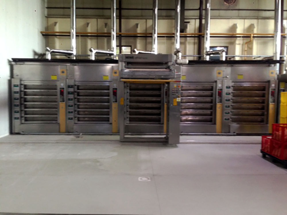 5x Miwe deck oven with Athlet loader
